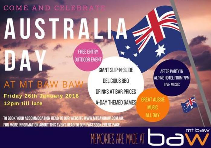 Free entry: Australia Day at Mt Baw Baw 2018
