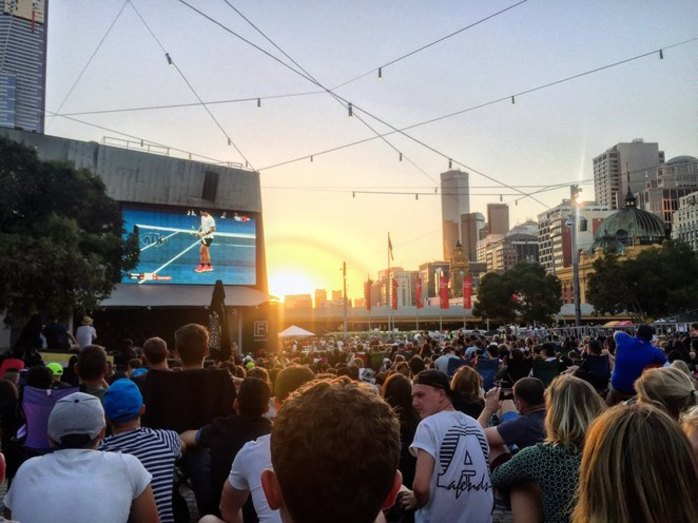 Kia Tennis Live Site, Federation Square 2019