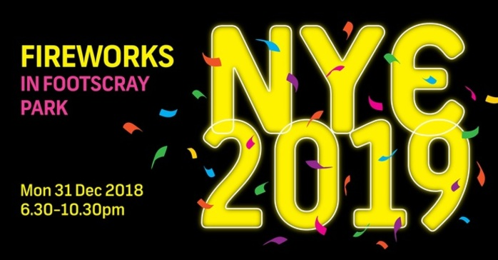 NYE Fireworks in Footscray Park 2019
