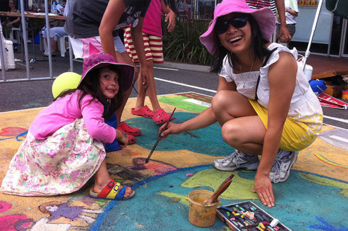 Two 3D Chalk Art - Free Workshop